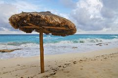 Single Beach Palapa Royalty Free Stock Photography