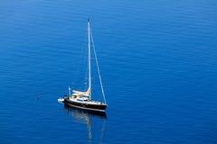Single beatiful yacht Royalty Free Stock Photo
