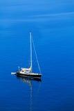 Single beatiful yacht Royalty Free Stock Image