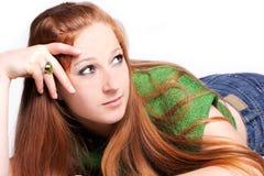 Single beautiful woman Royalty Free Stock Images