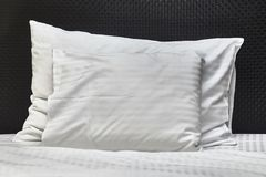 Hotel bed closeup Royalty Free Stock Image
