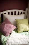 Single bed with pillows Royalty Free Stock Photography