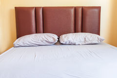 Single bed violet colour. Stock Photography