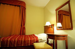 Single bedroom stock photography