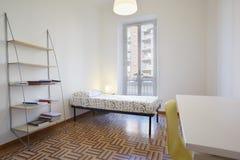 Single bedroom, simple room Stock Image