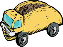 Single Beef Taco Dump Truck Drawing Royalty Free Stock Photos