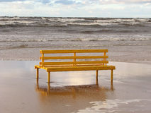 Single bench. Royalty Free Stock Photos