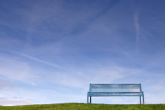 Single bench Royalty Free Stock Photography