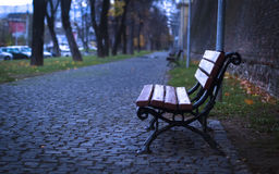 Single bench Stock Images