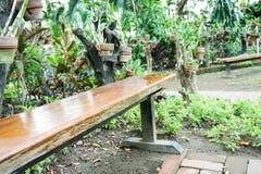 Single Bench in the park Stock Photos