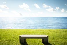 Single bench Royalty Free Stock Image