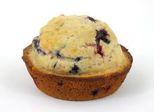 Single berry muffin Royalty Free Stock Image
