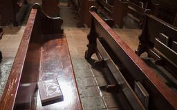 Bible On Pew Royalty Free Stock Photos
