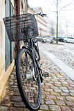 Single Bicycle on a Copenhagen street. Bicycle on a Copenhagen street Stock Photos