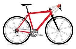 Single bicycle illustration Royalty Free Stock Photography