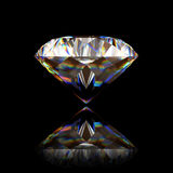 Single big diamond on black Royalty Free Stock Photo