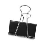 A single binder peg office, isolated on a white background. The black and metallic paper clip. Binder clips or clerical pins for p. Close-up picture of a single stock images