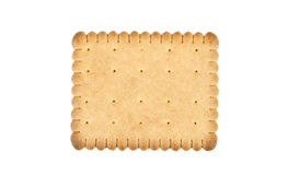 Single biscuit on white background Royalty Free Stock Image