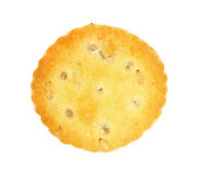 Single Bite Size Cracker Stock Photo
