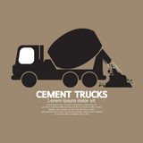 Single Black Cement Mixer Trucks Royalty Free Stock Image