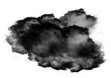 Single black cloud of smoke over white background. Single black cloud of smoke isolated over white background, realistic smoke 3D illustration. Smoky shape Stock Photography