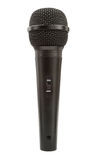 Single black microphone Stock Image