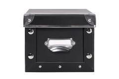 Single black storage filing box isolated on white Royalty Free Stock Photo