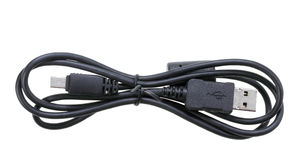 Single black USB-cable Stock Photography