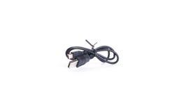 Single black USB-cable Isolated on white Royalty Free Stock Image