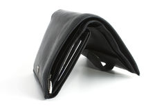 Single black wallet isolated Stock Images