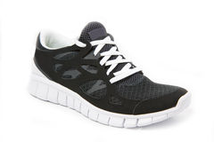 Single black and white sports shoe Royalty Free Stock Photos
