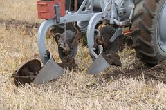 Agricultural Farming Plough. Stock Photo