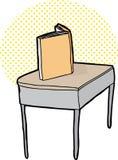 Single Blank Book on Desk Stock Image