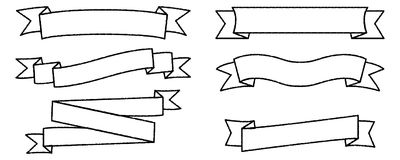 Single blank vintage ribbon banner vector logo design. Scroll, grunge template text
