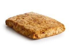 Single block of marinated tofu. royalty free stock image