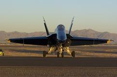 Single Blue Angels jet Stock Images