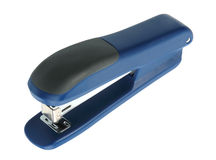 Single blue-black office stapler. Stock Image