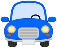 A single blue car Stock Images