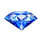 Single blue diamond Stock Images