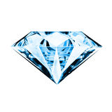 Single blue diamond stock illustration