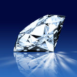 Single blue diamond Royalty Free Stock Image