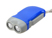 Single blue-gray hand flashlight Royalty Free Stock Images
