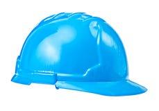 Single blue helmet isolated on white background Royalty Free Stock Photos