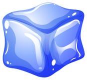 Single blue ice cube Royalty Free Stock Photos