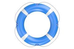 Single blue lifebuoy closeup Stock Photography