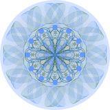 Single blue mandala Royalty Free Stock Photography