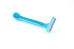 Single blue razors. For woman Royalty Free Stock Photography