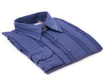 A single blue shirt royalty free stock photos