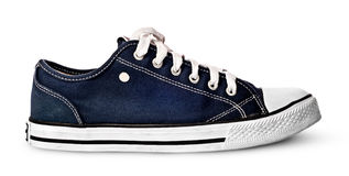 Single blue sport shoe Stock Photos