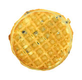 Single blueberry flavored waffle Royalty Free Stock Photos